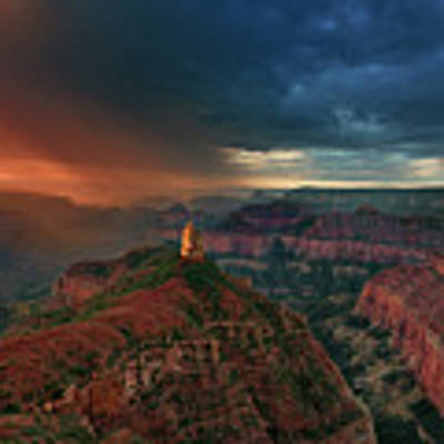 Storm Clouds North Rim Grand Canyon Arizona Art Print by Dave Welling