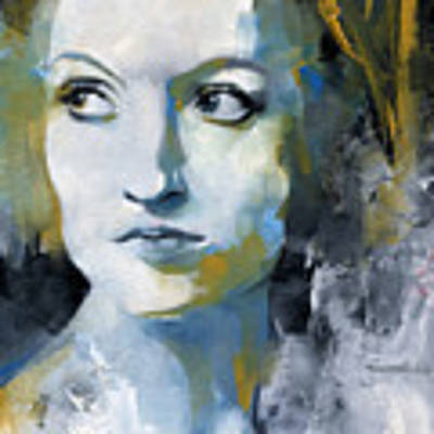 Study In Blue And Ochre Art Print by Patricia Ariel