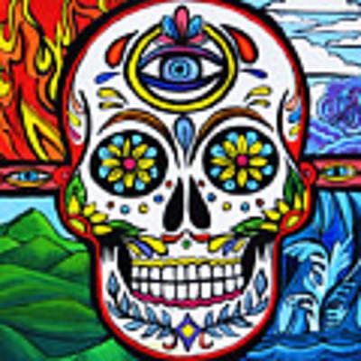 Sugar Skull Original by Stephen Humphries