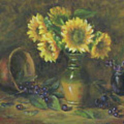 Sunflowers Art Print by Katalin Luczay