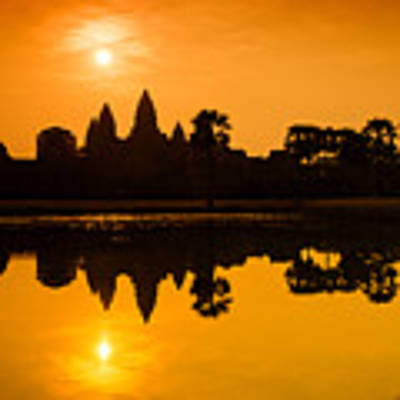 Sunrise At Angkor Wat Art Print by Yew Kwang
