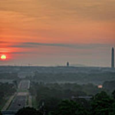 Sunrise From The Arlington House Art Print by Cindy Lark Hartman