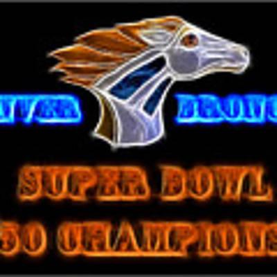 Super Bowl 50 Champions Art Print by Shane Bechler