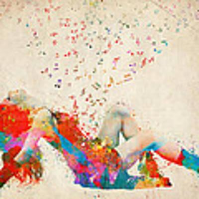 Sweet Jenny Bursting With Music Art Print by Nikki Smith