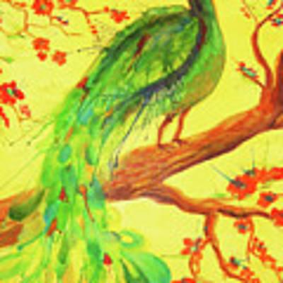 The Auspicious Peacock Art Print by Angelique Bowman