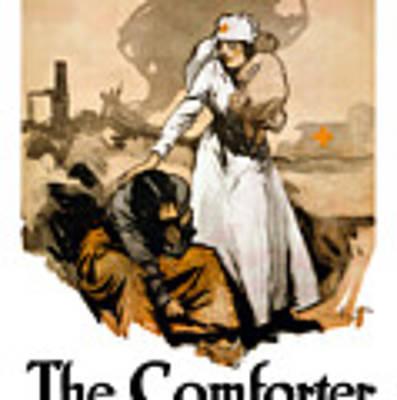 The Comforter - World War One Nurse Art Print