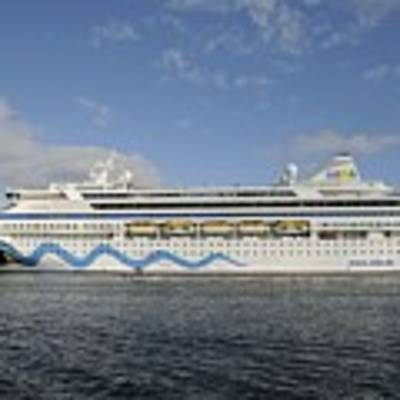 The Cruise Ship Aidavita Arriving In Port Canaveral Art Print by Bradford Martin