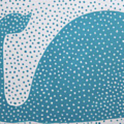 The Dotted Whale Art Print by Deborah Boyd