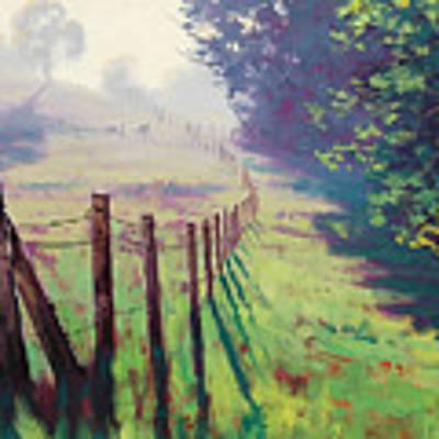 The Fence Line Art Print