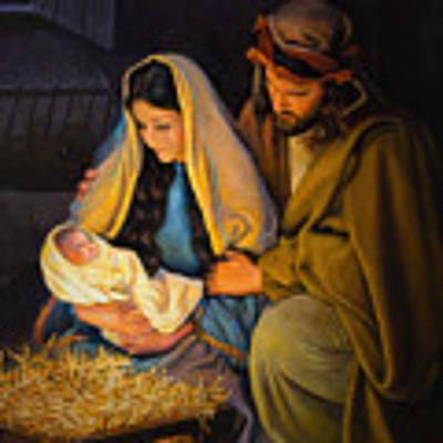 The Holy Family Art Print by Greg Olsen
