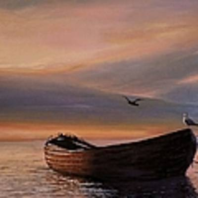 A Lone Boat Art Print by Rosario Piazza