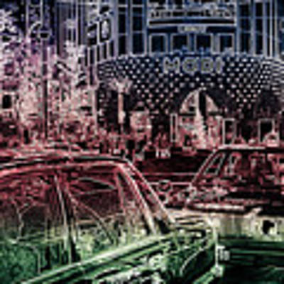 Neon Tokyo Taxis, Japan Art Print by Perry Rodriguez