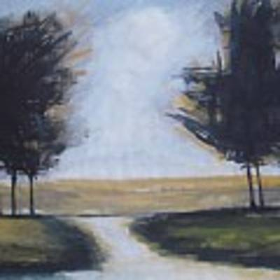 Trees On Rural Road 2 Art Print