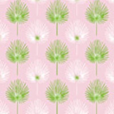 Tropical Leaves On Pink 2- Art By Linda Woods Art Print by Linda Woods