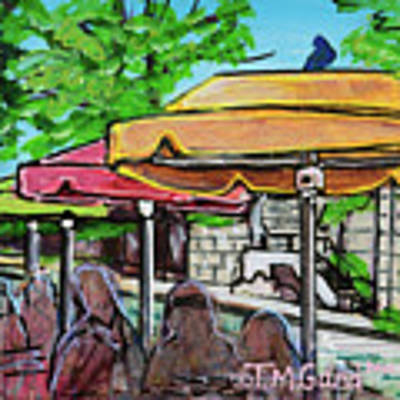Umbrellas Art Print by TM Gand