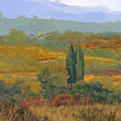 un altro pomeriggio in Toscana Art Print by Guido Borelli