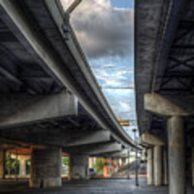 Under The Overpass II Art Print by Break The Silhouette