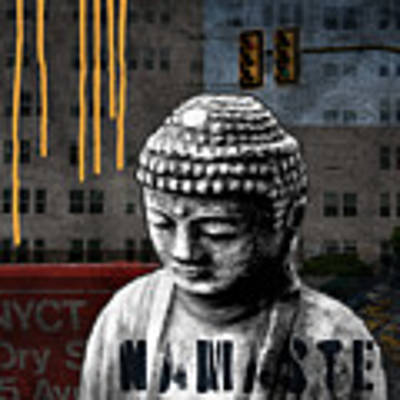 Urban Buddha  Art Print