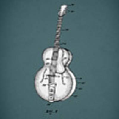 Vega Guitar Patent 1949 Art Print by Mark Rogan