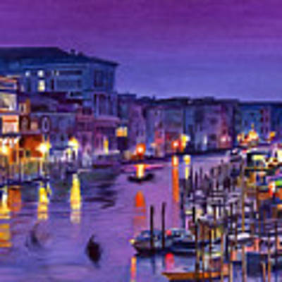 Venice Nights Art Print by David Lloyd Glover