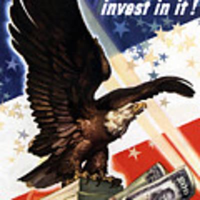 Victory Loan Bald Eagle Art Print