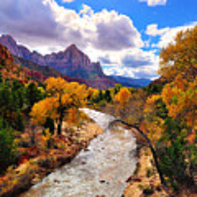 Virgin River Autumn Art Print by Greg Norrell