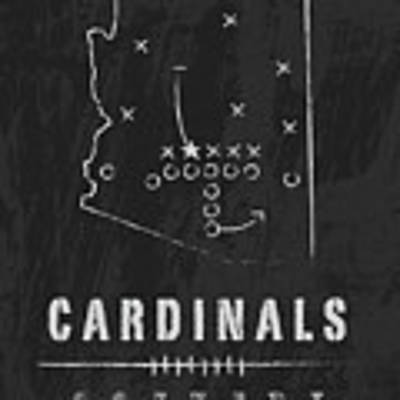 Arizona Cardinals Art - Nfl Football Wall Print Art Print by Damon Gray