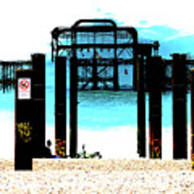 West Pier Graphic Art Print by Chris Lord