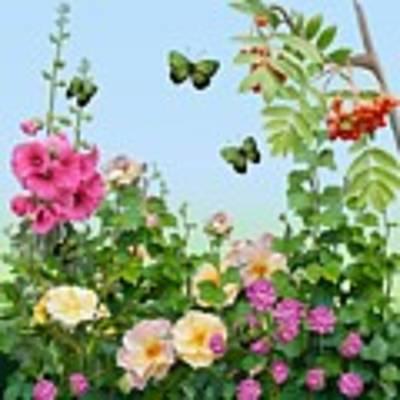 Wild Garden Art Print by Ivana Westin
