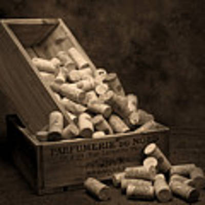Wine Corks Still Life I Art Print
