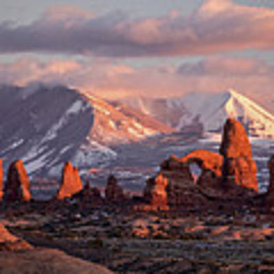Winter In Arches Np Art Print by Wesley Aston