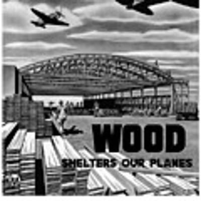 Wood Shelters Our Planes - Ww2 Art Print