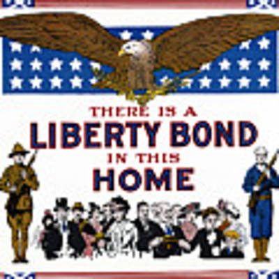 World War I Liberty Bond Ad Art Print by Granger