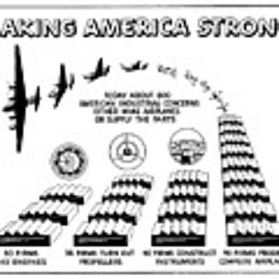 Ww2 Airplane Supply Cartoon  Art Print