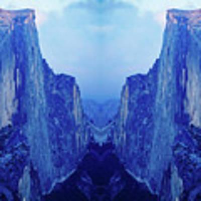 Yosemite Half Dome Mirror  Art Print by Kyle Hanson