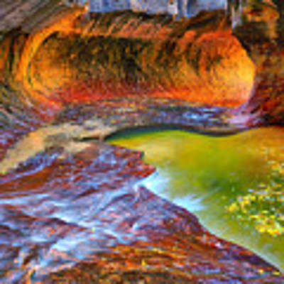 Zion Subway Art Print by Greg Norrell