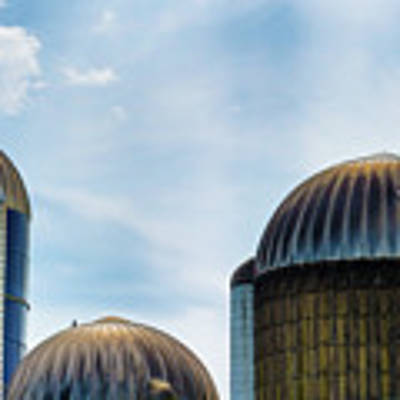 Agricultural Silos Of Rural West Virginia Art Print by Dee Browning
