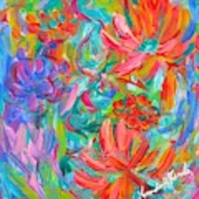 Flower Twirl Art Print by Kendall Kessler