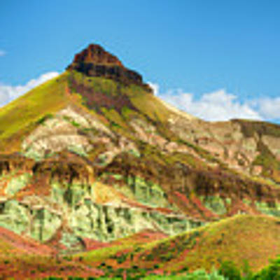 John Day Fossil Beds Sheep Rock Unit Landscape Art Print by Dee Browning