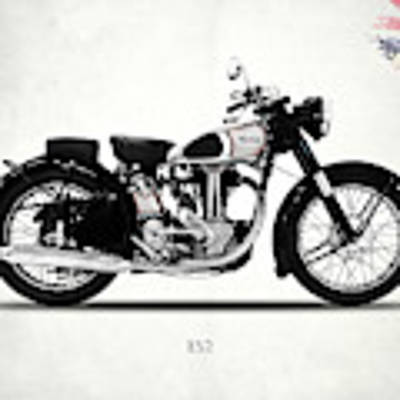 Norton Es2 1947 Art Print by Mark Rogan