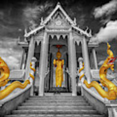 Pranburi Temple Art Print by Adrian Evans