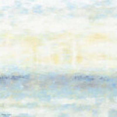 40x40 Minimalist Painting 1of2 Art Print by Gordon Punt