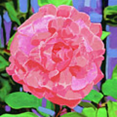 A Rose With Heart Art Print by Deborah Boyd