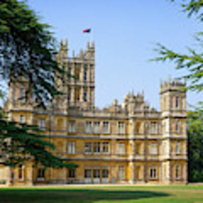 A View Of Highclere Castle Art Print by Joe Winkler