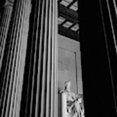 Abraham Lincoln Memorial Washington Dc Art Print by Edward Fielding
