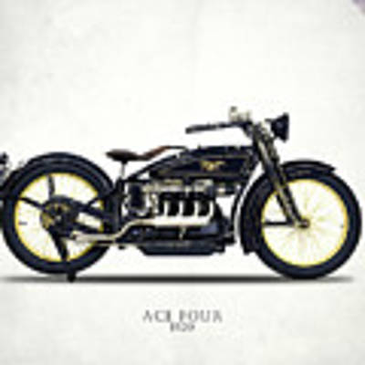 Ace Motorcycle 1920 Art Print by Mark Rogan