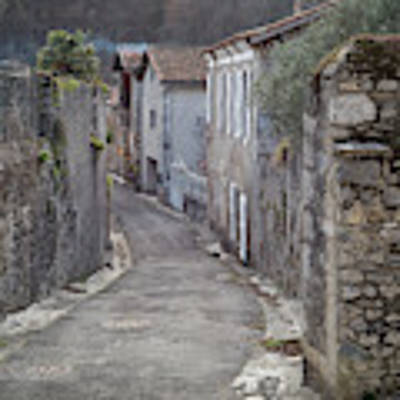 Alleyway In South France Art Print by Perry Rodriguez