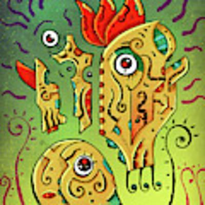 Ancient Spirit Art Print by Sotuland Art
