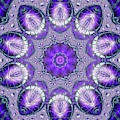 Bejeweled Easter Eggs Fractal Abstract Art Print by Rose Santuci-Sofranko