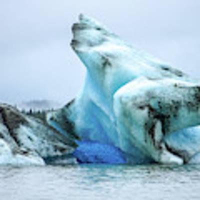 Blue Ice, Mendenhall Glacier Art Print by Dawn Richards